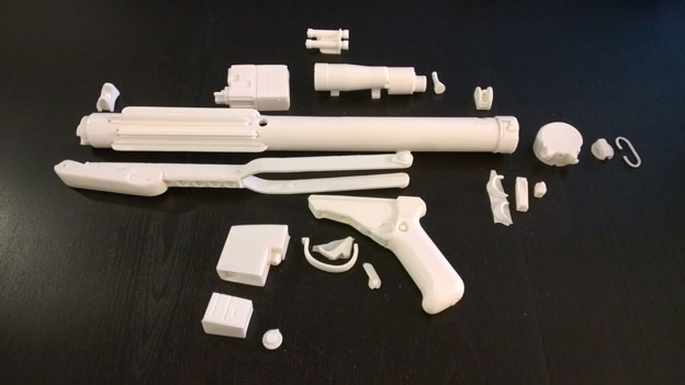 All resin parts in the Doopydoo's kit